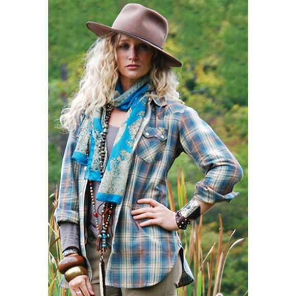 3fa1725800b Tasha Polizzi Green Plaid Western Warrior Shirt. M_5b26f8874ab6331df8e19bee